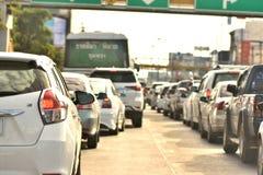 Trafikstockningar i Nakhonratchasima fotografering för bildbyråer
