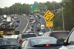 Trafikstockningar på DCS huvudringled royaltyfri foto