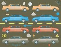 Trafikstockningbegrepp Arkivbilder