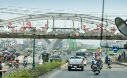 Trafikstockningen på Hanoi fotografering för bildbyråer