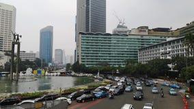 Trafikstockningläge i Jakarta på juni 28, 2018 stock video