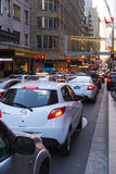 Trafikstockningmarknadsgata Sydney Royaltyfri Foto