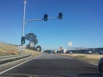Trafikstopp, innan att applicera Arkivfoto