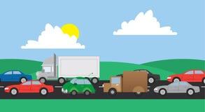 Trafikväg stock illustrationer