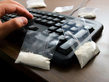 Trafiquant de drogue de Cyber Photos stock