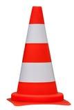 Trafique el cono aislado en el fondo blanco, trayectoria del clippig Foto de archivo libre de regalías