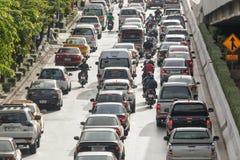 Trafique na estrada, Banguecoque, Tailândia Foto de Stock