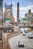 Trafique na saída da ponte de Ed Koch Queensboro Imagem de Stock Royalty Free
