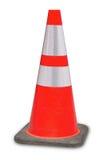 Trafique o cone sob a laranja do erro da site 404 da construção Fotos de Stock Royalty Free