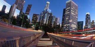 Trafiquez dans et hors de Los Angeles photo libre de droits