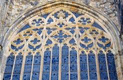Trafori di Antivari in finestra gotica con le pitture fotografie stock