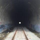 Traforo abbandonato del treno Immagini Stock