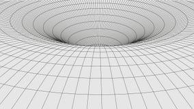 Traforo astratto buco del verme 3D con una struttura della maglia illustrazione di stock