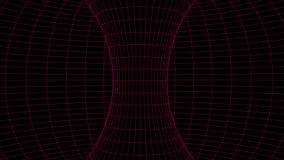 Traforo astratto buco del verme 3D con una struttura della maglia illustrazione vettoriale