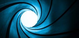 Traforo blu astratto Immagini Stock