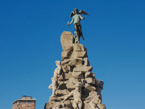 Traforo del弗雷瑞斯雕象在都灵 库存照片