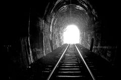 Traforo del treno Immagini Stock
