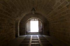 Traforo della cattedrale di Majorca e di Almudaina Fotografia Stock