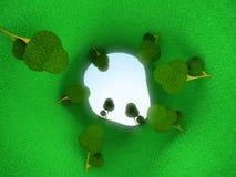 Traforo verde Fotografie Stock Libere da Diritti