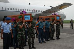 TRAGÉDIE D'AIRASIA QZ8501 Image stock