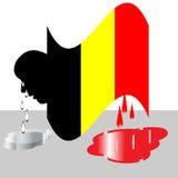 Tragédie de la Belgique Images libres de droits