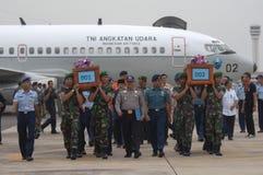 TRAGÖDIE VON AIRASIA QZ8501 Stockfotos