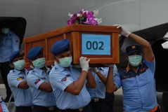 TRAGÖDIE VON AIRASIA QZ8501 Lizenzfreie Stockfotos