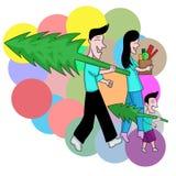 Traga a casa do Natal ilustração stock