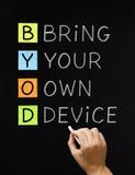Traga seu próprio dispositivo Foto de Stock Royalty Free