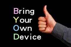 Traga seu próprio dispositivo fotos de stock