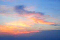 Tragaluz del cielo de la puesta del sol Imagen de archivo libre de regalías
