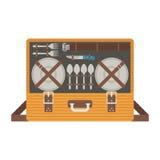 Tragbare Picknick-Taschen-Fessel lizenzfreie abbildung