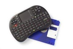 Tragbare Tastatur und Diskette Lizenzfreies Stockbild