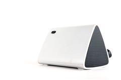 Tragbare tragbare Lautsprecherläufe auf Batterien Stockfotografie