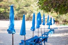 Tragbarer Strandschirm Lizenzfreies Stockbild