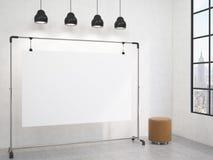 Tragbares Brett im Raum stock abbildung