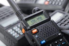 Tragbares Funksprechgerät lokalisiert Lizenzfreie Stockbilder