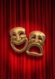 Tragedia de la comedia Imagenes de archivo