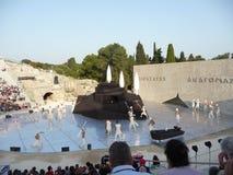 Tragedias-Philoctetes griegas Foto de archivo