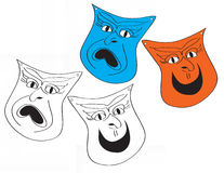 Tragedy Comedy Drama Masks Royalty Free Stock Images