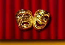 Tragedy Comedy masks Stock Photo