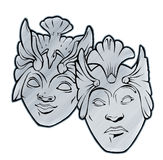 Tragedy Comedy Theater masks. Tragic Tragedy Comic Comedy Theater Masks Mask Royalty Free Stock Images