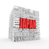 Tragedy in Japan. Words. Stock Image