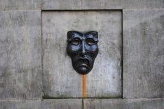 Tragedy mask fountain Stock Photos