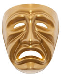 Tragedy theatrical mask isolated. On a white background Royalty Free Stock Images