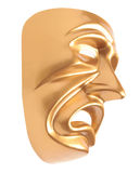 Tragedy theatrical mask isolated Stock Photos