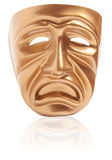 Tragedy theatrical mask Royalty Free Stock Images