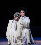 """Tragedy of vendetta-The eighth act getting a new born child-Kunqu Opera""""Madame White Snake"""". Legend of the White Snake is one of the most famous tales Stock Photos"""
