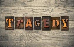 Tragedy Wooden Letterpress Theme Stock Photography