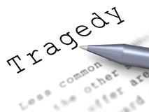 Tragedy Word Means Disaster Misfortune Or Blow. Tragedy Word Meaning Disaster Misfortune Or Blow Stock Photo